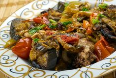 Azerbaijani adjab-sandal. Adjab-sandal - Azerbaijani dish of vegetables and meat Royalty Free Stock Photo