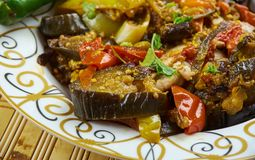 Azerbaijani adjab-sandal. Adjab-sandal - Azerbaijani dish of vegetables and meat Stock Images