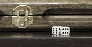 Azerbaijani backgammon. Game dice relax Stock Photo