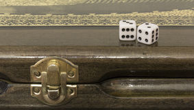 Azerbaijani backgammon. Game dice relax Stock Photos