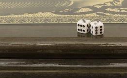 Azerbaijani backgammon. Game dice relax Royalty Free Stock Photo