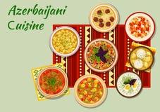 Azerbaijani Cuisine Dishes For Dinner Menu Icon Royalty Free Stock Photos