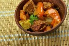 Azerbaijani dish Tava. Tava ety - Azerbaijani dish with lamb Stock Images