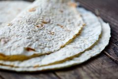 Azerbaijani flat cakes - lavash Royalty Free Stock Photo