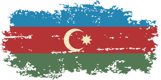 Azerbaijani grunge flag. Vector illustration. Royalty Free Stock Photo
