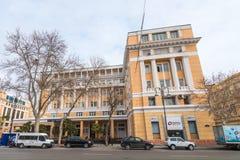 Azerbaijani Informationsstellegebäude Stockfotos
