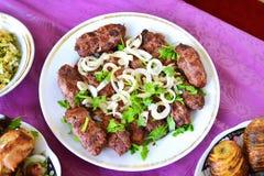 Azerbaijani lula kebab skewers Royalty Free Stock Photography