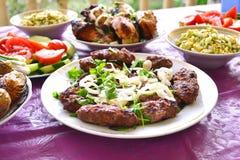 Azerbaijani lula kebab skewers Stock Photos