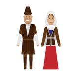Azerbaijani national dress Royalty Free Stock Image