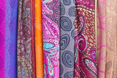 Azerbaijani national fabric sold on the street. Art Stock Images