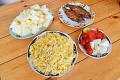 Azerbaijani pilaf with groats. National Azerbaijani pilaf with groats Stock Images