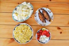 Azerbaijani pilaf with groats. National Azerbaijani pilaf with groats Royalty Free Stock Photography