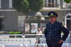 Azerbaijani police officer Royalty Free Stock Image