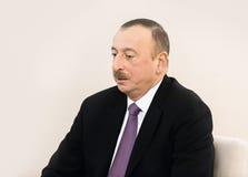 Azerbaijani President Ilham Aliyev. DAVOS, SWITZERLAND - Jan 22, 2016: Azerbaijani President Ilham Aliyev at the World Economic Forum in Davos (Switzerland Royalty Free Stock Image