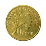 20 azerbaijani qepik coin reverse stock images