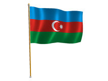 Azerbaijani silk flag Stock Image