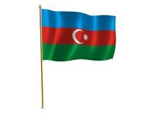 Azerbaijani silk flag. Silk flag of Azerbaijan Stock Image