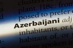 Azerbaijani. Word in a dictionary.  concept Stock Photos