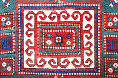 Azerbajan手工制造地毯 免版税图库摄影