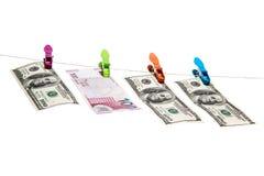Azerbeidzjaans Manat en Dollar Royalty-vrije Stock Fotografie