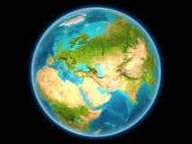 Azerbeidzjan op aarde Stock Afbeelding