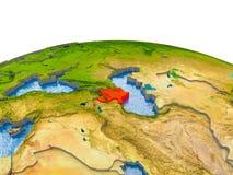 Azerbeidzjan op model van Aarde Royalty-vrije Stock Foto's