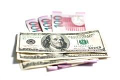Azerbejdżański Manat i dolar Fotografia Royalty Free
