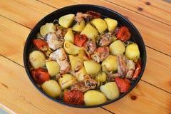 Azerbejdżański Tava kebab fotografia stock