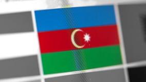 Azerbejdżan flaga państowowa kraj Azerbejdżan flaga na pokazie, cyfrowy mora skutek obrazy stock