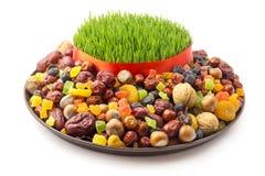Azeri khoncha. Tradional azeri khoncha used for the Novruz Holiday celebration on a white background Stock Images