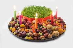 Azeri khoncha. Tradional azeri khoncha used for the Novruz Holiday celebration on a white background Stock Photography