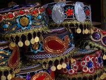 Azeri nationaler Kopfschmuck Stockbild