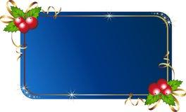 Azevinho do Natal com cartão Fotografia de Stock