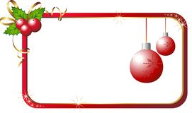 Azevinho do Natal com cartão Imagem de Stock Royalty Free