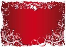 Azevinho, neve e sinos Imagens de Stock Royalty Free