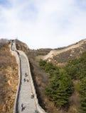 Azië China die, Peking, historische gebouwen, de Grote Muur badaling Stock Afbeelding