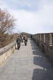 Azië China die, Peking, historische gebouwen, de Grote Muur badaling Royalty-vrije Stock Afbeeldingen