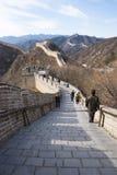 Azië China die, Peking, historische gebouwen, de Grote Muur badaling Stock Fotografie