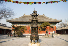 Azië China, Peking, Baita-tempel, klassieke architectureï¼ brander ŒIncense Stock Fotografie