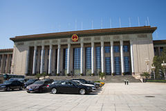 In Azië, China, Peking, de Grote Zaal van de Mensen Royalty-vrije Stock Afbeeldingen
