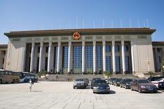 In Azië, China, Peking, de Grote Zaal van de Mensen Stock Foto