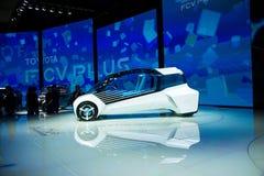 Azië China, Peking, de internationale automobiele tentoonstelling van 2016, Binnententoonstellingszaal, TOYOTA, FCV plus concepte Stock Afbeelding