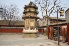 Azië China, Peking, de Witte toren ¼ ŒLandscape architectureï ¼ Œancient van de Wolkentempel ï Royalty-vrije Stock Afbeelding