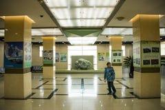 Azië China, Peking, geologisch museum, binnententoonstellingszaal Stock Afbeelding
