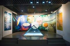 Azië China, Peking, geologisch museum, binnententoonstellingszaal Royalty-vrije Stock Afbeelding