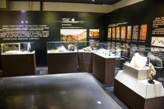 Azië China, Peking, geologisch museum, binnententoonstellingszaal Stock Foto's