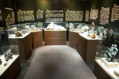 Azië China, Peking, geologisch museum, binnententoonstellingszaal Royalty-vrije Stock Foto