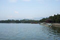In Azië, China, Peking, het de Zomerpaleis, Kunming-meer, cruise, toneel Royalty-vrije Stock Afbeeldingen