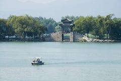In Azië, China, Peking, het de Zomerpaleis, Kunming-meer, cruise, toneel Stock Fotografie