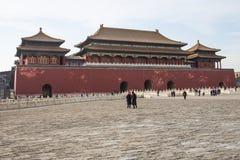 Azië China, Peking, het Keizerpaleis, de geschiedenis van het gebouw, Hoogste Poort Royalty-vrije Stock Fotografie